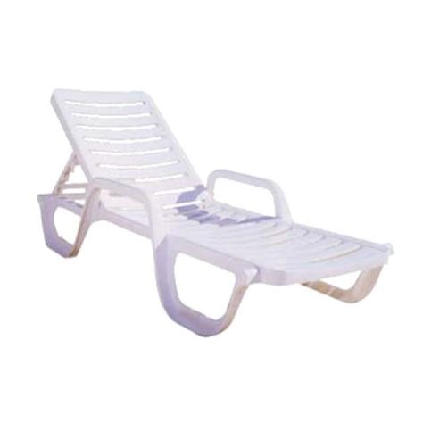 grosfillex 44031004 bahia chaise adjustable resin white