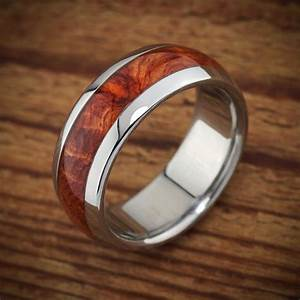titanium wood wedding band amboyna men39s ring With mens wedding rings with wood