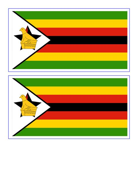 zimbabwe printable flag template templates