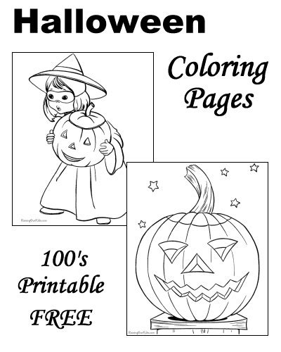 Preschool Halloween coloring pages!