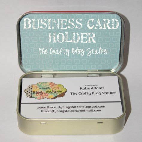 business card holder   altoids tin
