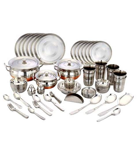 klassic vimal  pcs steel dinner set buy    price  india snapdeal