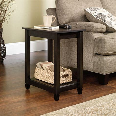 Sauder Edge Water Estate Black Side Table 415269 The