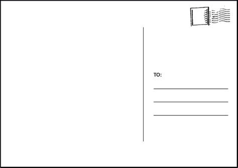 postcard template 4 postcard template for word outline templates