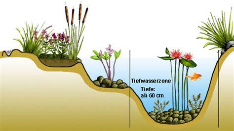 tiefwasserzone anlegen im gartenteich