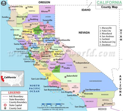 southern california city map  travel information
