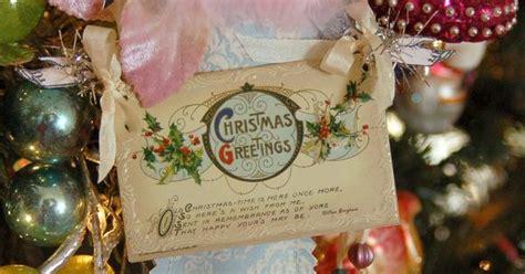 paper stockingvintage postcard christmas decorating
