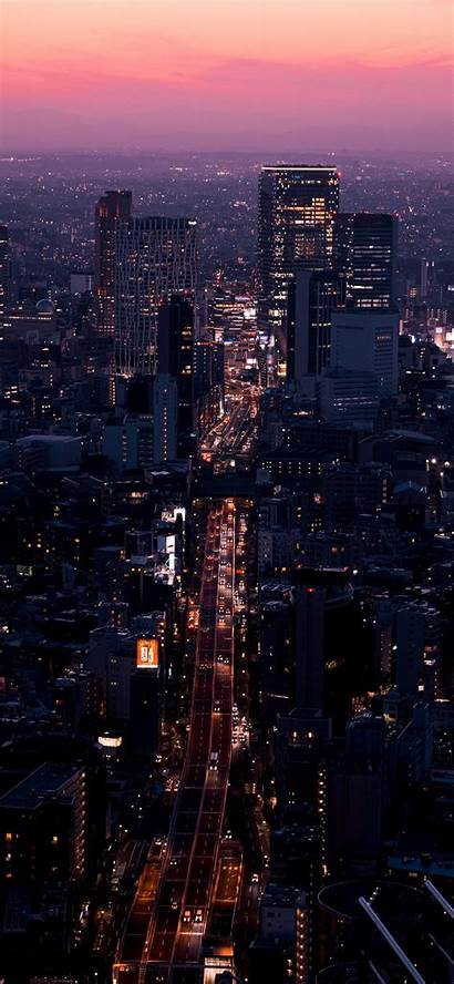 Iphone Night Aerial Buildings Wallpapers During Scenery