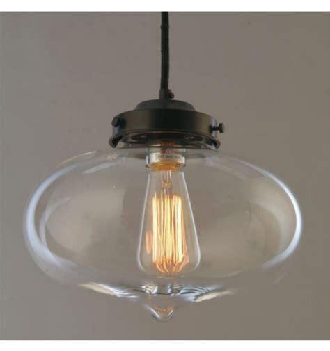 Suspension industrielle Design Ovale Transparent