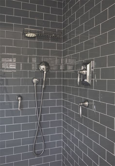 gray subway tile gray subway tile shower design ideas