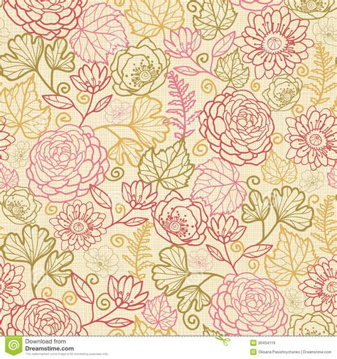 fabric flowers seamless pattern background royalty