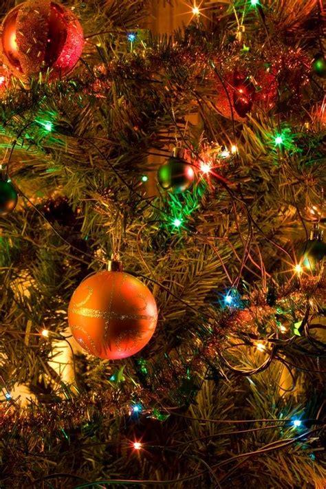 christmas tree decorations close  selective focus