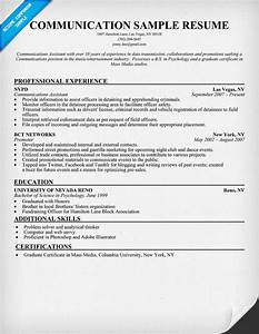 communication resume sample try this pinterest With communications resume template