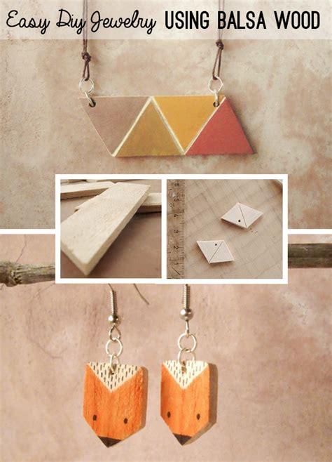 geometric modern jewelry  balsa wood