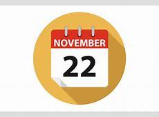 Vector Calendar Thanksgiving Day 2018 ccPixscom