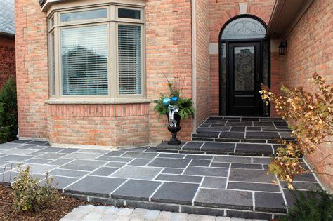 ebel black square cut flagstone pavers