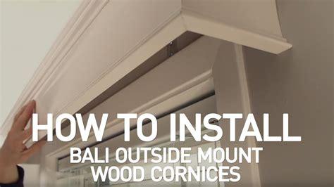 install bali wood cornices  mount youtube