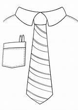 Tie Coloring sketch template