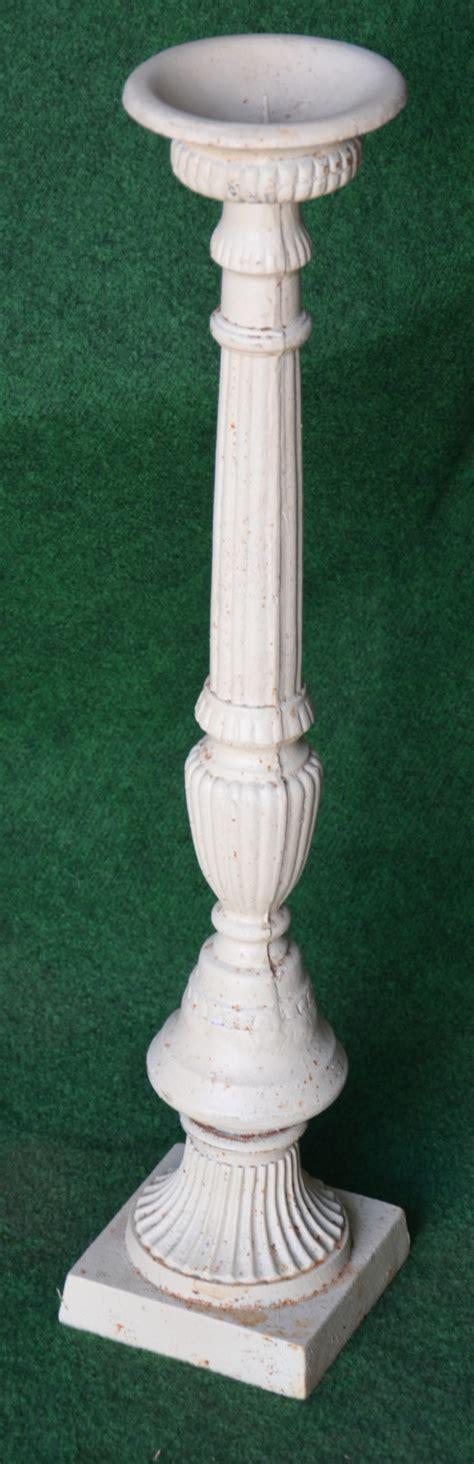 Kerzenleuchter 70 Cm  Antik Weiss Auf Garten Passion