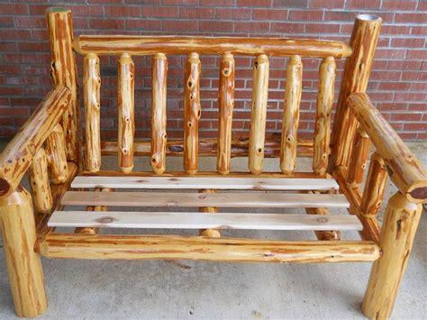 mcqueen rustic furnitures cedar log love seat