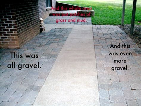 extending concrete patio with pavers for the home