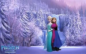 Frozen-Wallpaper-Elsa-Anna I by Vegetto90 on DeviantArt