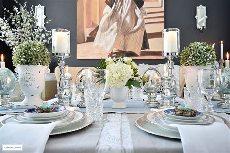 citrineliving  simple  elegant easter tablescape