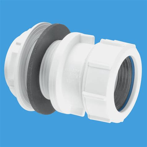 mcalpine  basin waste pipe tank connector sm