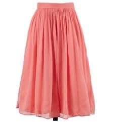 coral chiffon skirt elizabeth s custom skirts