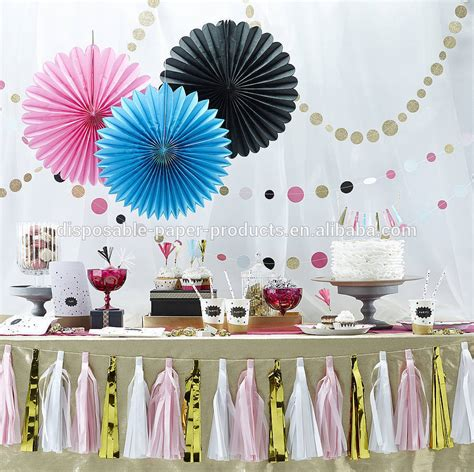 how to hang paper fans on wall pastel hanging tissue paper fans diy backdrop tissue paper