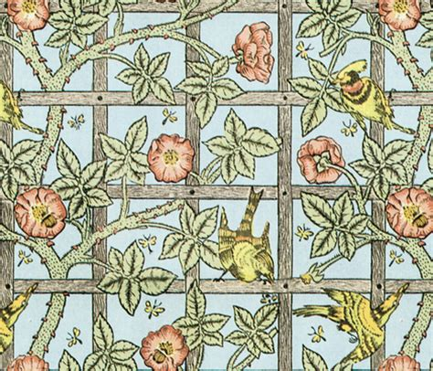 William Morris  Trellis Fabric Peacoquettedesigns