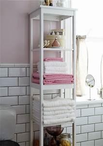 Ikea Badezimmer Regal : offene aufbewahrung f r handt cher im hemnes regal in wei zimmer deko pinterest ~ Eleganceandgraceweddings.com Haus und Dekorationen
