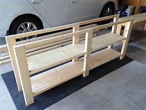 Unfinished Custom DIY Rustic Pine Wood Console Table With