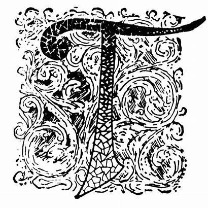 Ornate Initial Clipart Etc