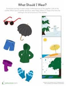 Preschool Weather Seasons Worksheets