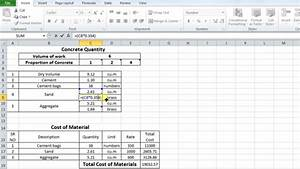 Footing Design Excel How To Estimate The Quantity Of Sand And Cement