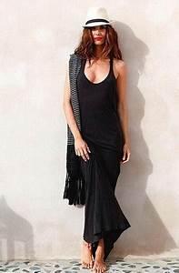 Vestido negro de algodon