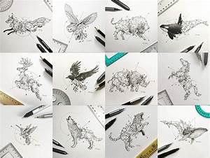 Geometric Animal Painting | www.imgkid.com - The Image Kid ...