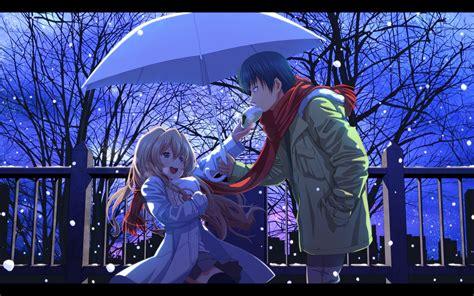 Snow Anime Wallpaper - anime snow winter toradora aisaka taiga