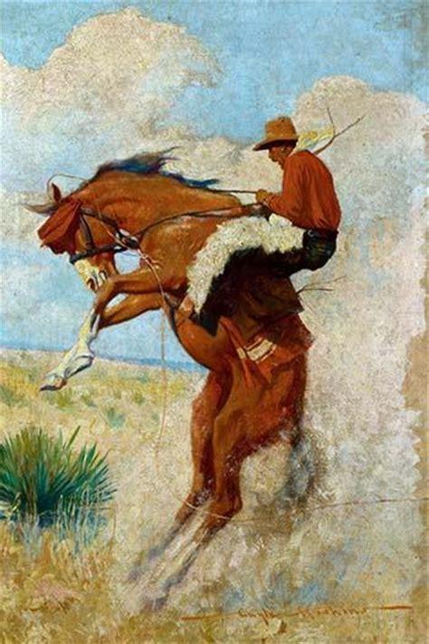 Cowboy On Bucking Bronco Protectedart