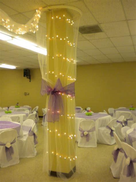 yellow  gray  lights wedding reception hall
