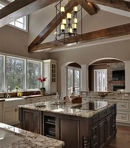 couleur peinture cuisine 66 idees fantastiques With good meuble ilot central cuisine 3 idee couleur cuisine la cuisine rouge et grise