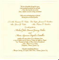 wedding invitation wording sles wedding invitation valdes castellon nuptials