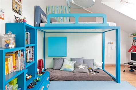 Kinderzimmer Junge Dachschräge by Atemberaubend Modern Kinderzimmer Hochbett Kinderzimmer