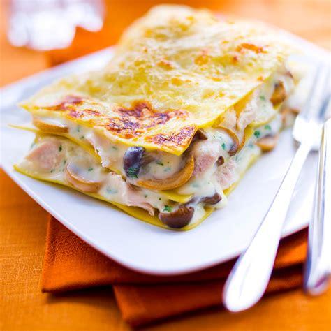 recette de cuisine de poulet lasagnes au poulet et aux chignons jpg