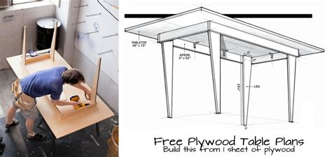plywood table plans woodwork city  woodworking plans
