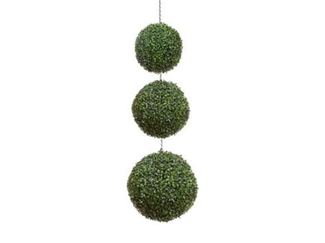 outdoor boxwood hanging topiary balls trio windowbox com