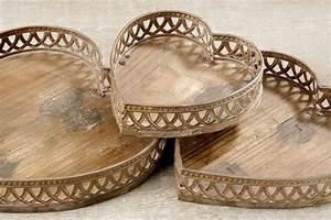 Tablett Aus Holz : tablett herz dekoschale aus fichte holz haus der herzen ~ Buech-reservation.com Haus und Dekorationen