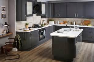 B Q Kitchen Ideas It Santini Gloss Anthracite Slab Diy At B Q