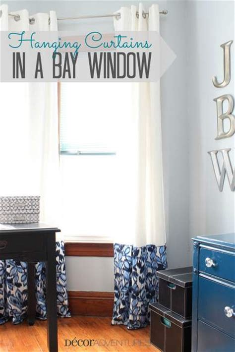 bay window how to put curtains on a bay window